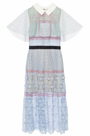 Openwork dress with contrasting collar od Self Portrait
