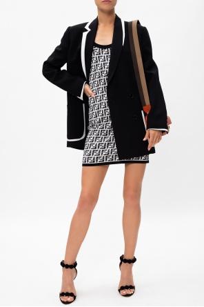 Patterned sleeveless dress od Fendi