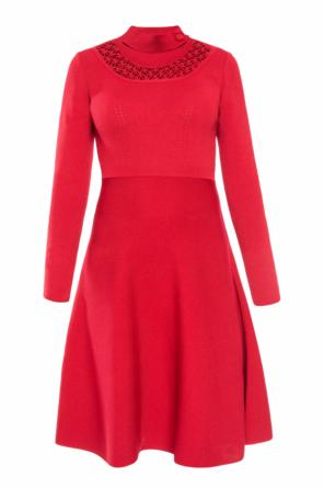 Flared dress with band collar od Fendi