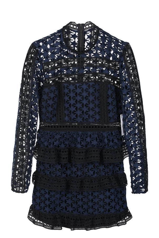 2f772e7622f Short lace dress with ruffles Self Portrait - Vitkac shop online