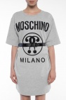 Logo-printed sweatshirt dress od Moschino