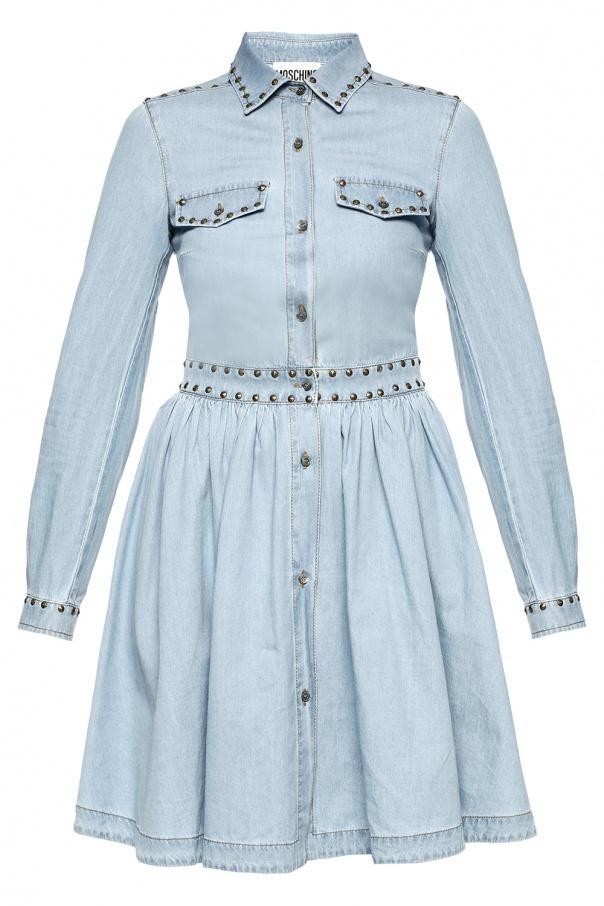 f6303d2f69 Rozkloszowana Sukienka Jeansowa Moschino Sklep Internetowy Vitkac