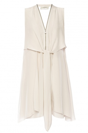 Tie neck silk dress od AllSaints