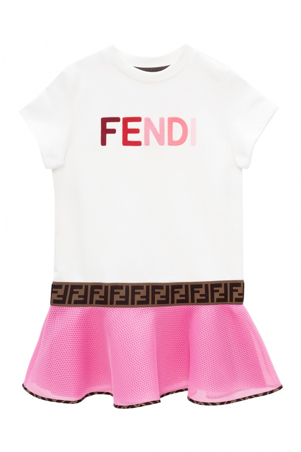 Fendi Kids Flared dress with logo