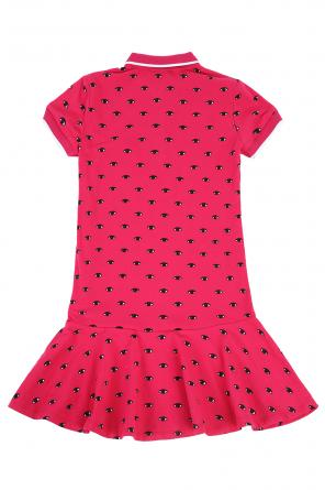 Patterned dress with collar od Kenzo Kids