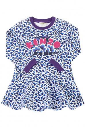 Patterned flared dress od Kenzo Kids