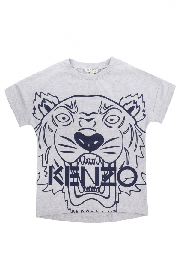 Tiger head T shirt Kenzo Kids Vitkac US