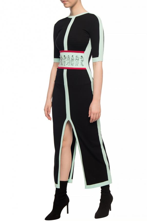 Kirin Wzorzysta sukienka 8WpKw0oR