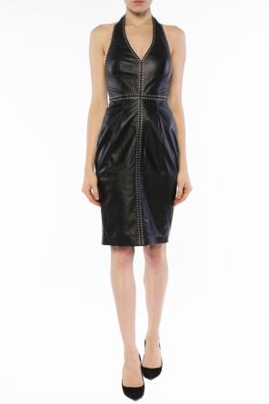 Open-back leather dress od Diesel