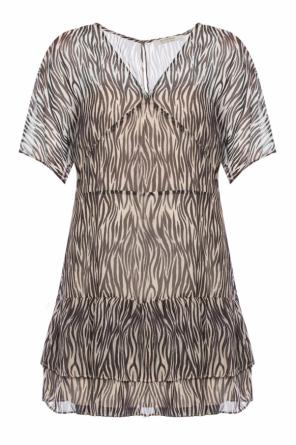 Zebra motif dress od Allsaints
