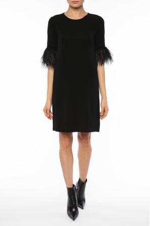 Dress with ostrich feathers od Michael Kors