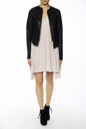 'miller' asymmetrical dress with ruffle od AllSaints