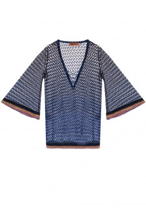 Tie-up sheer top od Missoni