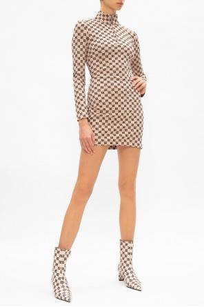 'monogram' long-sleeved dress od MISBHV