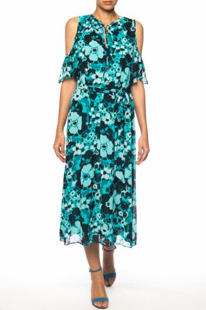 Off-the-shoulder patterned dress od Michael Kors