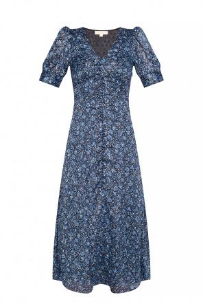 Wzorzysta sukienka z lureksową nicią od Michael Michael Kors