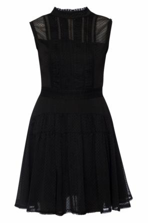 'myra' sheer dress with ruffle od AllSaints