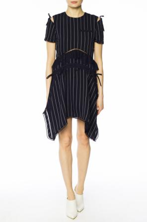 Striped asymmetrical dress od Self Portrait
