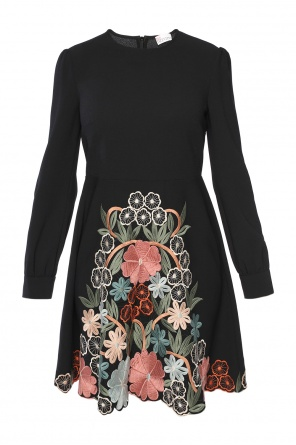 Embroidered flared dress od Valentino Red