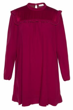 Dress with long sleeves od Valentino Red