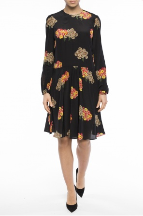 Floral motif flared dress od Valentino Red