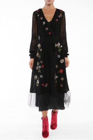Embroidered openwork dress od Valentino Red