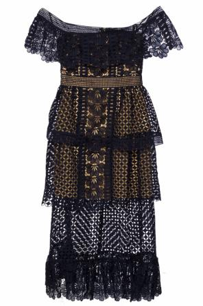 Openwork dress with ruffle od Self Portrait