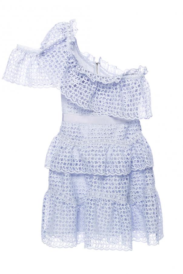 46bf0b356426 One-shoulder lace dress Self Portrait - Vitkac shop online
