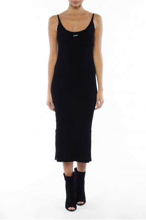 Ribbed dress with slits od Off White