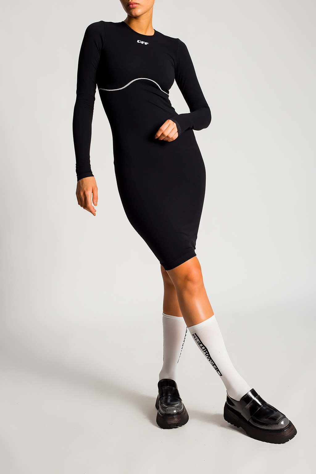 Off-White Fitted dress with logo