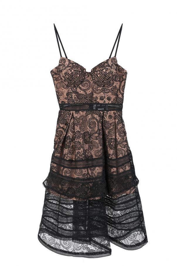 66d586ff911c Flared lace dress Self Portrait - Vitkac shop online