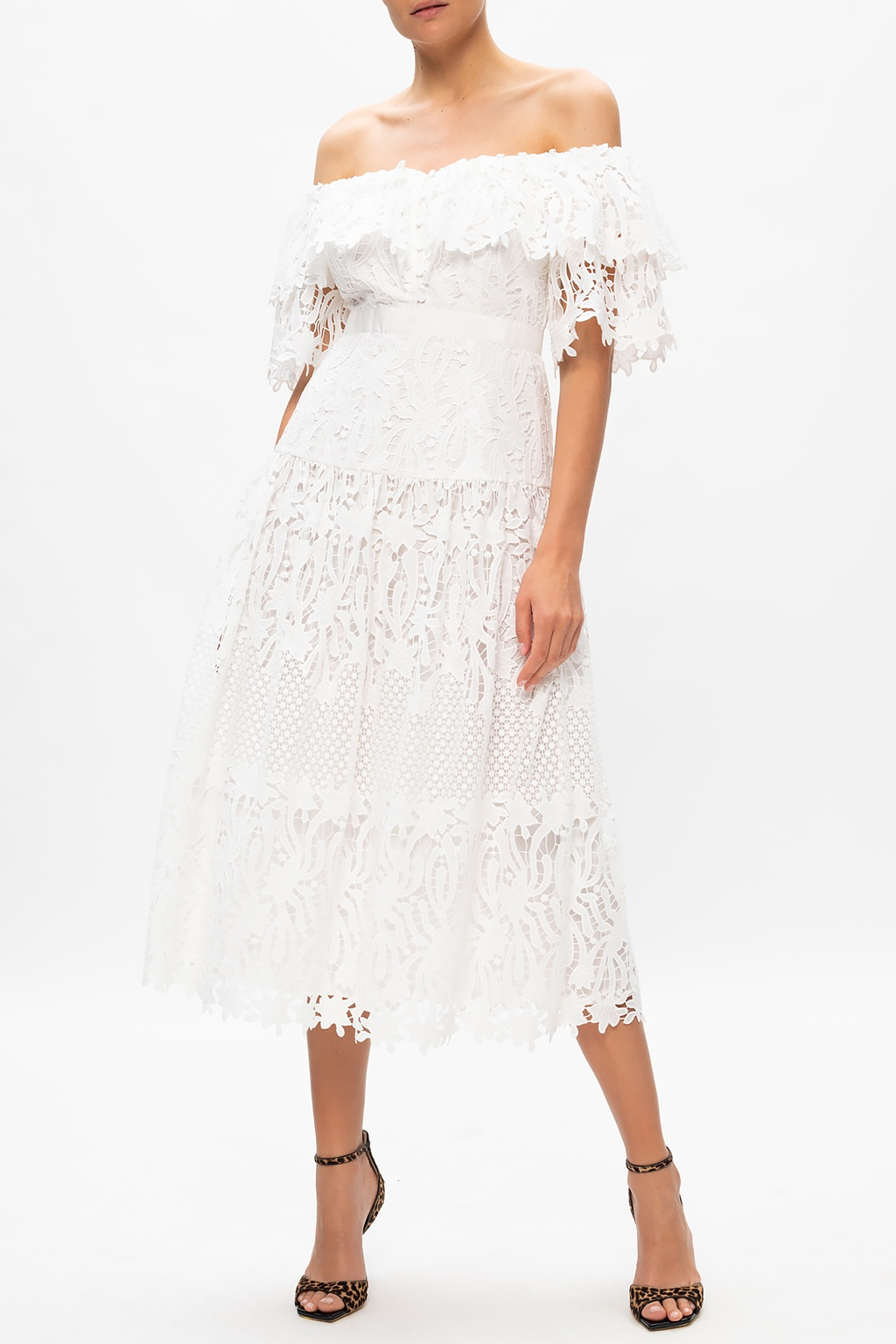 Self Portrait Lace dress with denuded shoulders