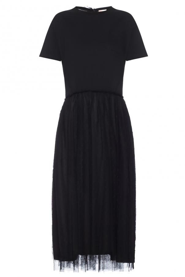 Dress With Back Bow Red Valentino Vitkac Shop Online