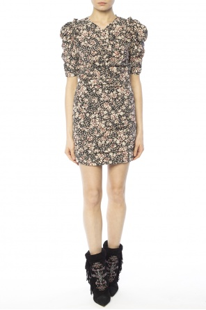 Gathered patterned dress od Isabel Marant