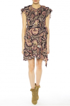 Patterned ruffle dress od Isabel Marant