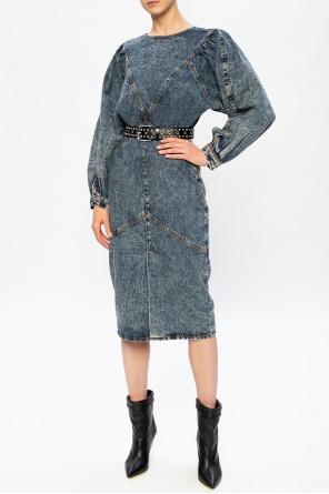 Stonewashed denim dress od Isabel Marant