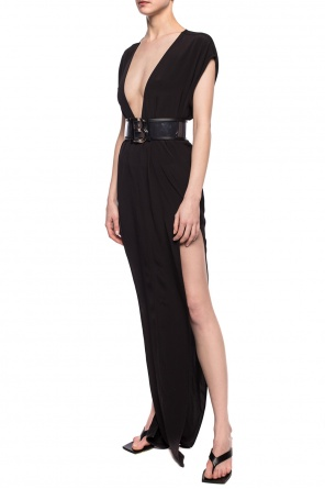 Dress with deep neckline od Rick Owens