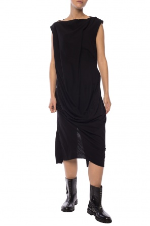 Dress with gathers od Rick Owens
