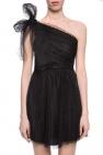 Red Valentino Koronkowa sukienka na jedno ramię