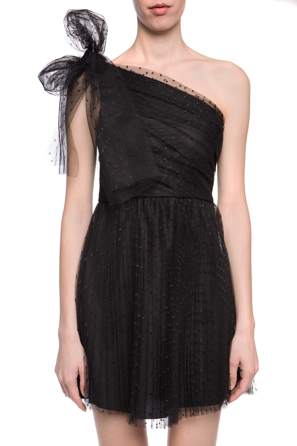 Red Valentino One-shoulder lace dress