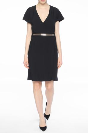Belted waist short dress od Lanvin