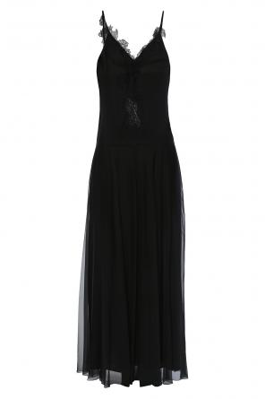 Long lace-trimmed dress od Lanvin
