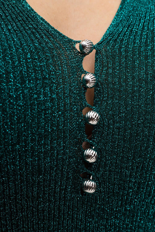 Lanvin Dopasowana sukienka z lureksową nicią