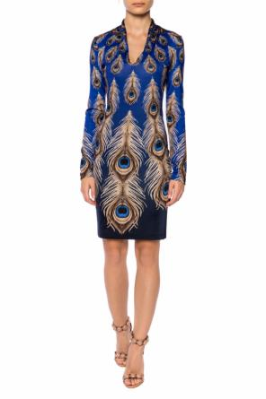 Dress with a feather motif od Just Cavalli