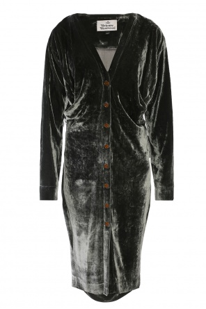 Velvet v-neck dress od Vivienne Westwood