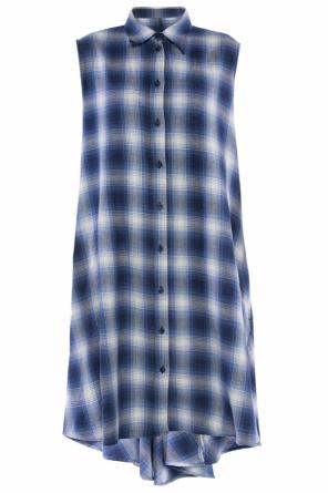 Asymmetrical checked shirt od MM6 Maison Margiela