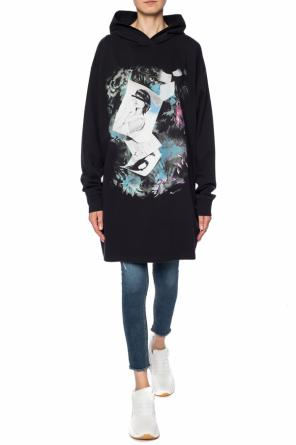 Sweatshirt dress with a printed pattern od MM6 Maison Margiela