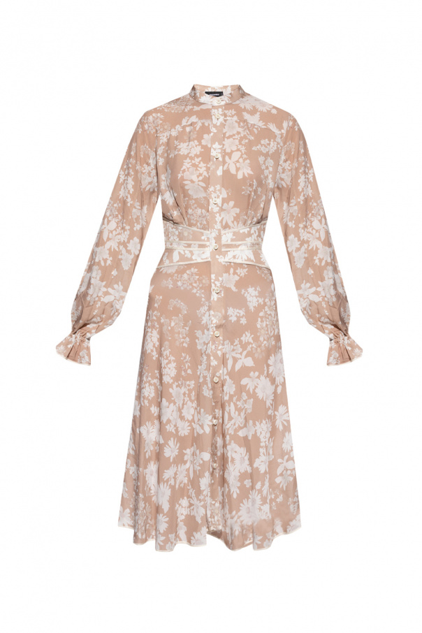 Dsquared2 Patterned dress with standing collar