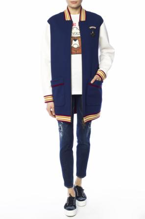Long patched sweatshirt od Dsquared2
