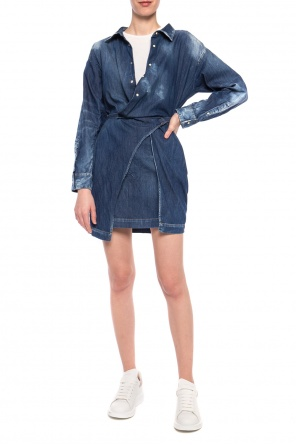 Denim dress with a t-shirt od Dsquared2
